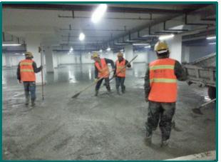 金刚砂固化地坪施工-浇筑商品砼