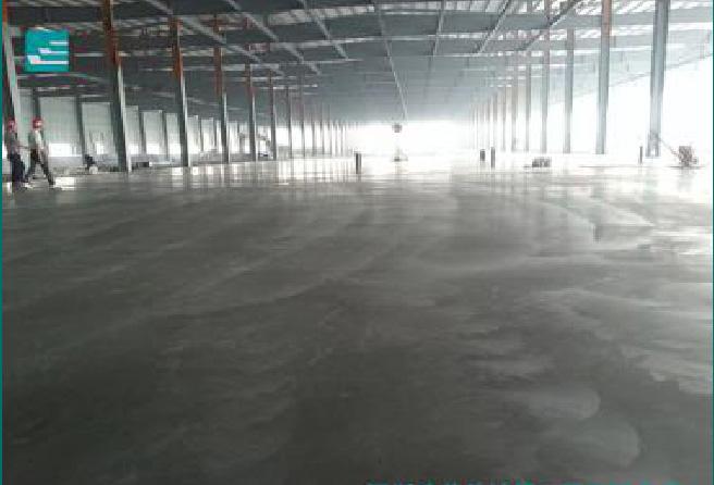 金刚砂固化地坪施工-清洗后效果图